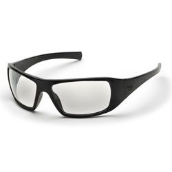 PYRAMEX / EYEWEAR PROTECTION / BLACK FRAME / CLEAR LENS