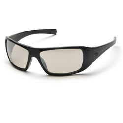 PYRAMEX / EYEWEAR PROTECTION / BLACK FRAME / Indoor/Outdoor Mirror Lens
